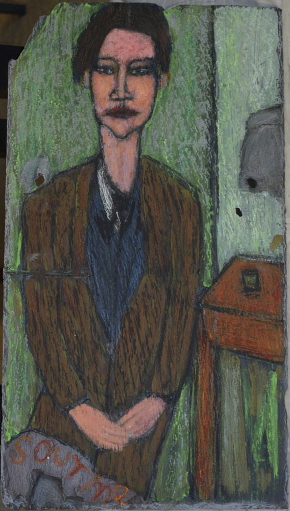 Portrait of chaim soutine after a painting by modigliani