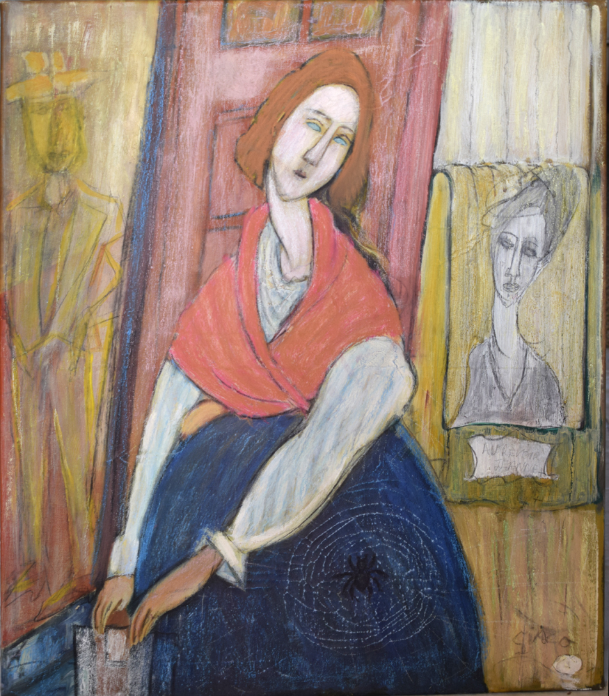 Jean death of Modigliani painting by Giaco in Southampton