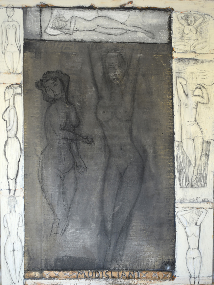 Modigliani's nudes is a great inspiration for the Artist named Giaco based in Southampton