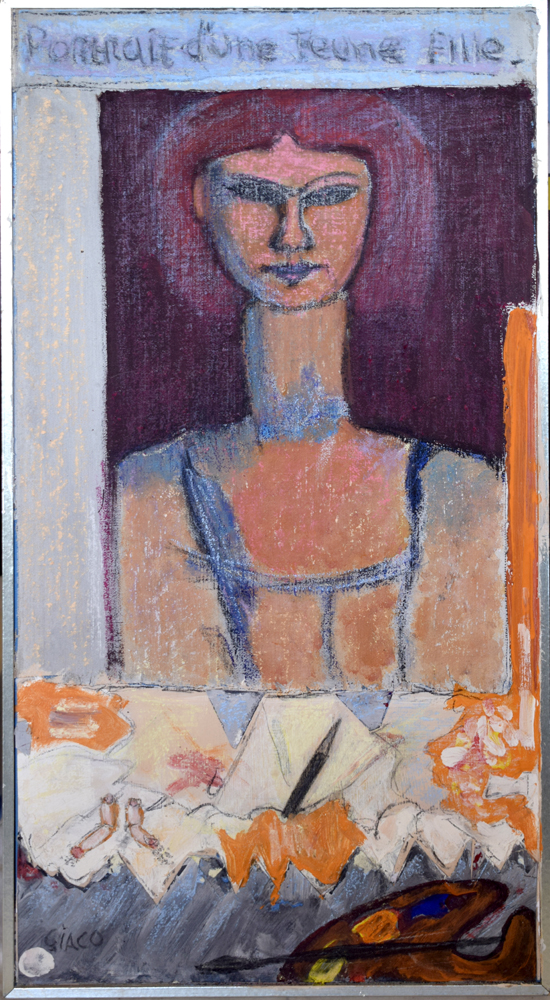 Portrait of a girl inspired by Modigliani