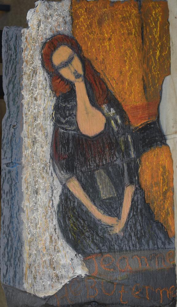 Portrait on slate