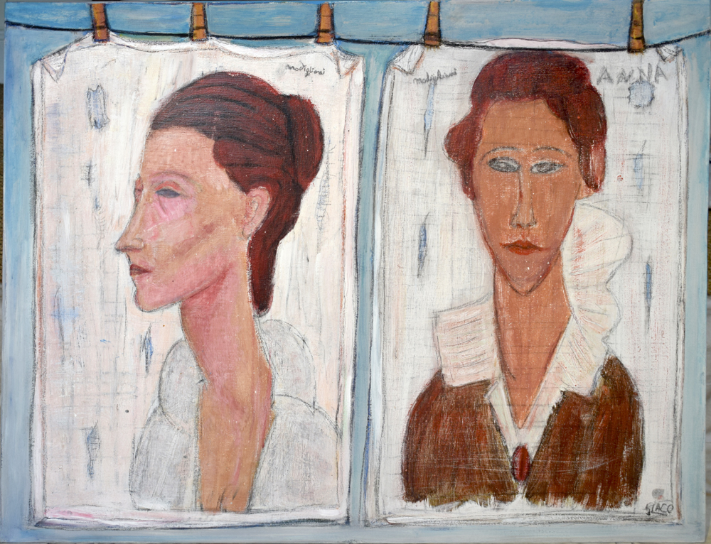 Portraits inspired by Modigliani