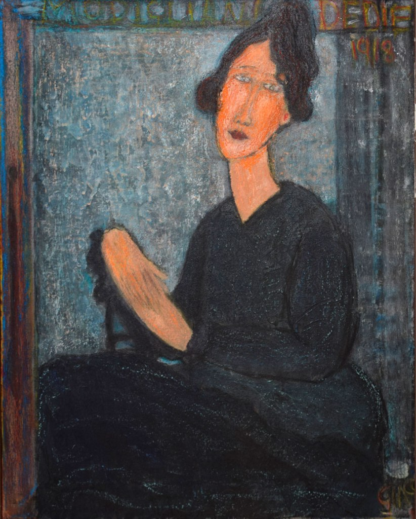 Donn portrait inspired by Modigliani's portrait